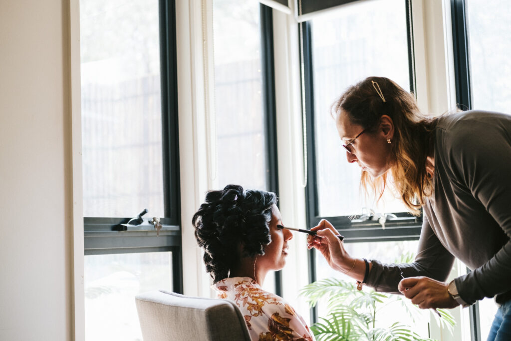 makeup artist for a bride